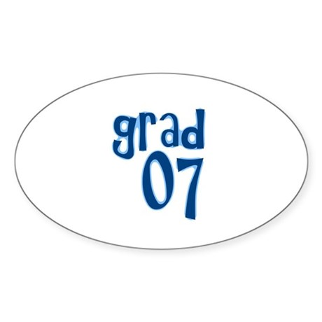 Grad 07 Oval Sticker