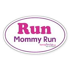 Run Mommy Run Oval Decal