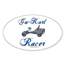 Go-Kart Racer Oval Decal
