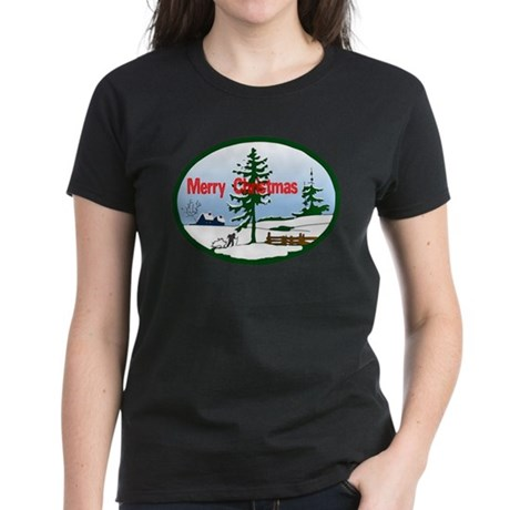 Christmas Snow Women's Dark T-Shirt