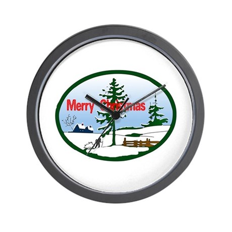 Christmas Snow Wall Clock