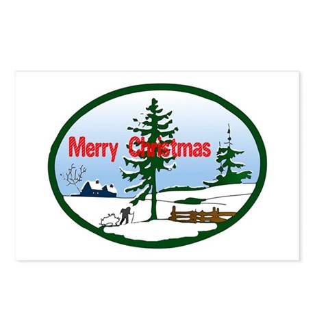 Christmas Snow Postcards (Package of 8)