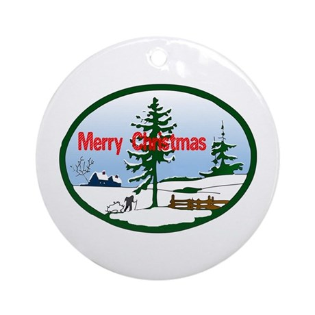 Christmas Snow Ornament (Round)