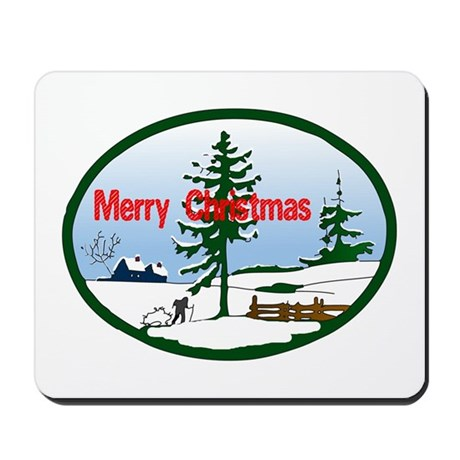 Christmas Snow Mousepad