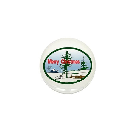 Christmas Snow Mini Button (10 pack)