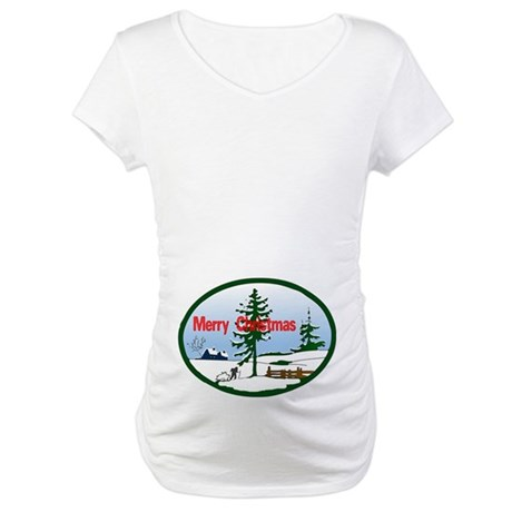 Christmas Snow Maternity T-Shirt