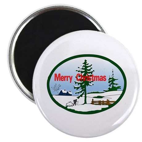 "Christmas Snow 2.25"" Magnet (100 pack)"