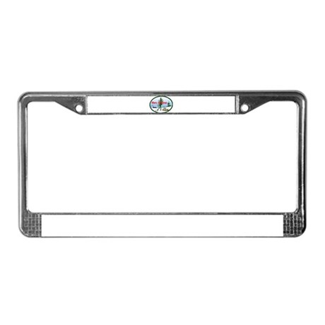 Christmas Snow License Plate Frame