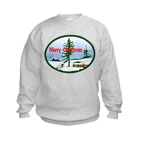 Christmas Snow Kids Sweatshirt