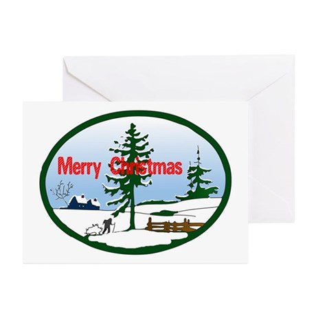 Christmas Snow Greeting Cards (Pk of 10)
