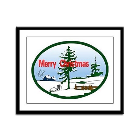 Christmas Snow Framed Panel Print