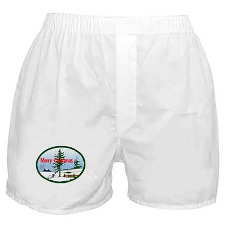 Christmas Snow Boxer Shorts