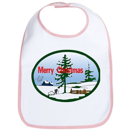 Christmas Snow Bib