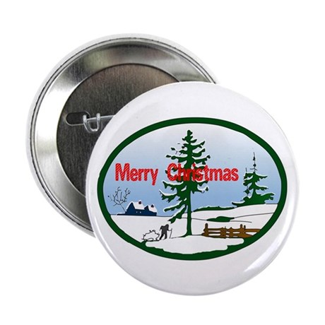 "Christmas Snow 2.25"" Button (100 pack)"