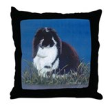 French Lop Bunny Throw Pillow