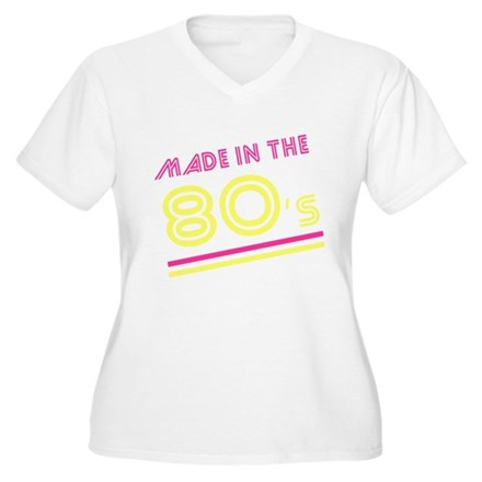 Made in the 80's Plus Size V-Neck Shirt