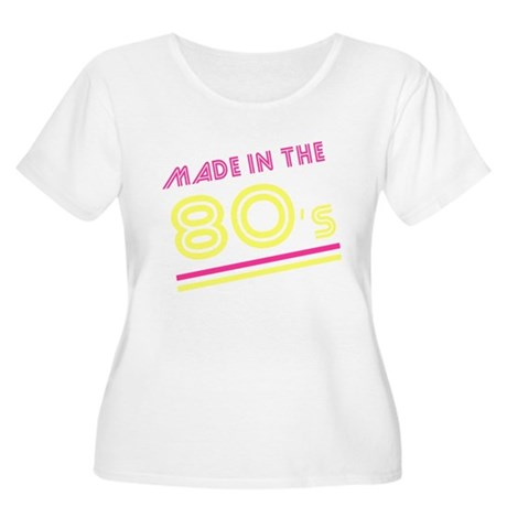 Made in the 80's Womens Plus Size Scoop Neck T-Sh