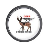 DEER TREMBLE Wall Clock