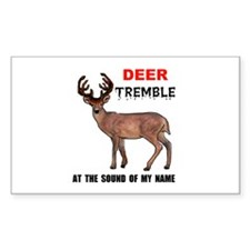DEER TREMBLE Rectangle Decal