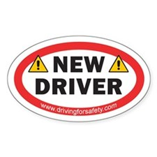 New Driver Sticker with Ad (Oval)