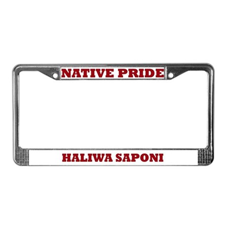 Native Pride Haliwa Saponi License Plate Frame