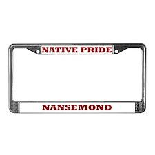Native Pride Nansemond License Plate Frame