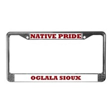 Native Pride Oglala Sioux License Plate Frame