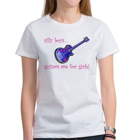 Women's T-Shirt--guitars are for girls