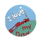 Train Dada Ornament (Round)