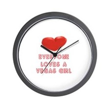 Everyone Loves a Vegas Girl  Wall Clock