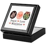 Peace Love Mistletoe Christmas Keepsake Box