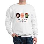 Peace Love Mistletoe Christmas Sweatshirt
