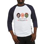 Peace Love Mistletoe Christmas Baseball Jersey