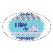 Blue Nani Oval Decal