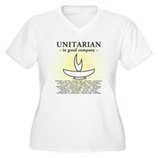 """Unitarian In Good Company"" V-Neck Tee (Plus)"