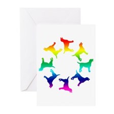 Rainbow Labs Circle Greeting Cards (Pk of 20)