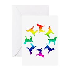 Rainbow Labs Circle Greeting Card