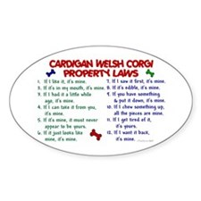 Cardigan Welsh Corgi Property Laws 2 Decal