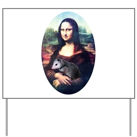 Mona Lisa Possum Yard Sign