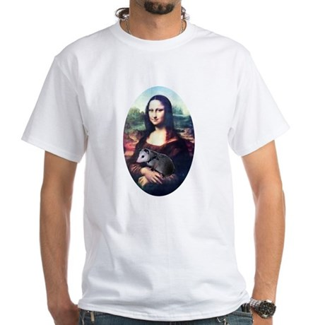 Mona Lisa Possum White T-Shirt