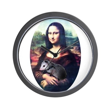 Mona Lisa Possum Wall Clock