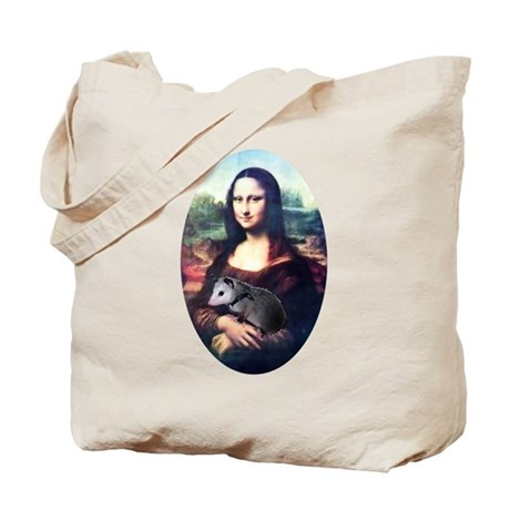 Mona Lisa Possum Tote Bag