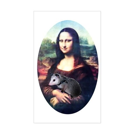 Mona Lisa Possum Rectangle Sticker