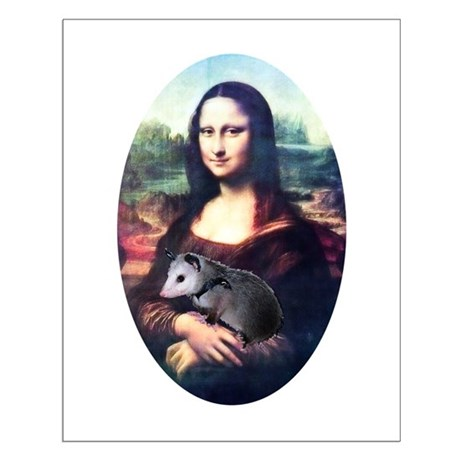 Mona Lisa Possum Small Poster