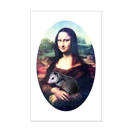 Mona Lisa Possum Mini Poster Print