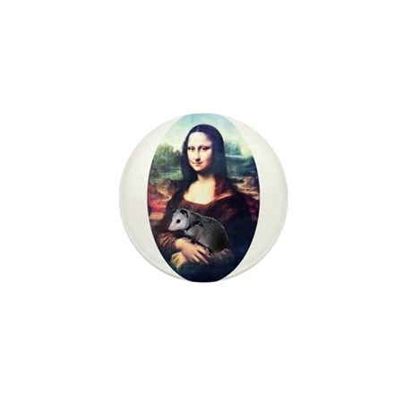 Mona Lisa Possum Mini Button (100 pack)