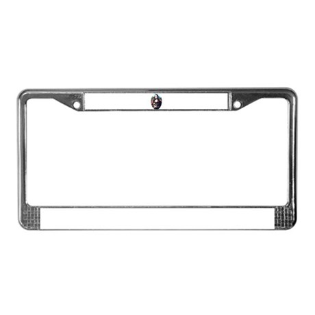 Mona Lisa Possum License Plate Frame