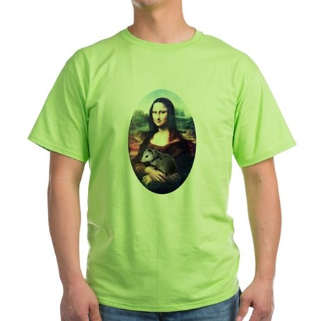 Mona Lisa Possum Green T-Shirt