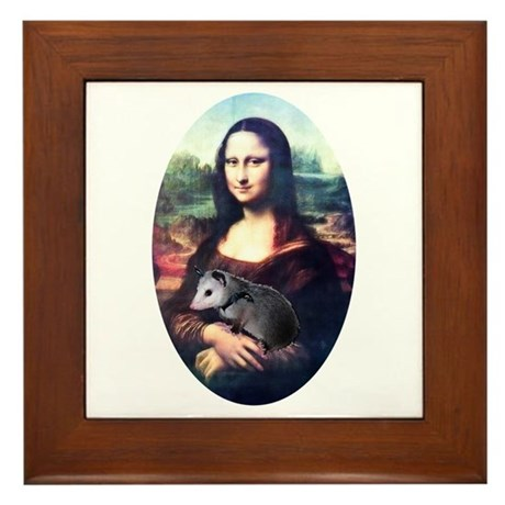 Mona Lisa Possum Framed Tile