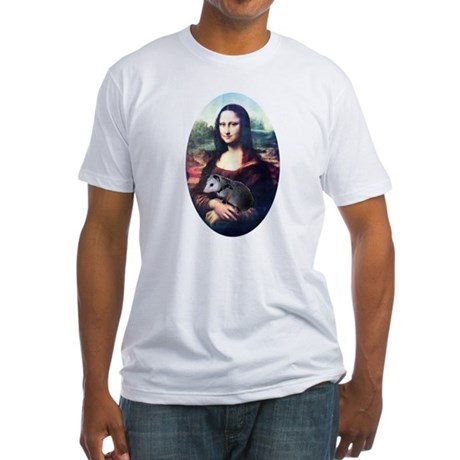 Mona Lisa Possum Fitted T-Shirt